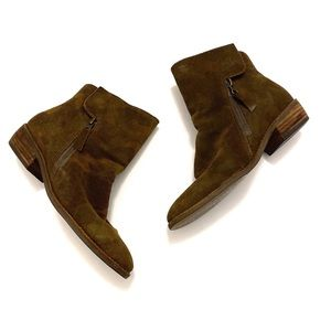 Matisse Southside Camouflage Suede Ankle Bootie 8